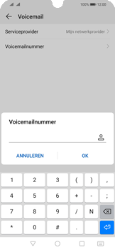 Huawei P Smart (2019) - Voicemail - handmatig instellen - Stap 9