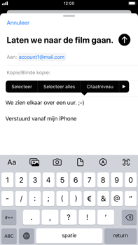 Apple iPhone 8 Plus - iOS 13 - E-mail - e-mail versturen - Stap 8