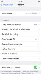 Apple iPhone 8 - iOS 12 - WiFi - Attivare WiFi Calling - Fase 5