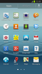 Samsung Galaxy S III LTE - Getting started - Installing widgets and applications on your start screen - Step 4