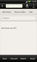 HTC C525u One SV - Email - Sending an email message - Step 8