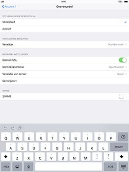 Apple iPad Pro 10.5 inch - iOS 11 - E-mail - Account instellen (POP3 met SMTP-verificatie) - Stap 23