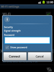 Samsung Galaxy Pocket - WiFi - WiFi configuration - Step 8