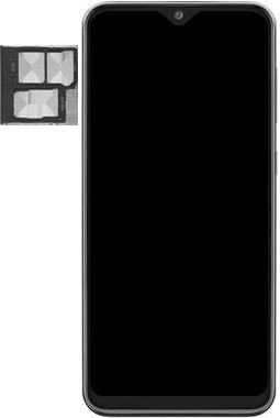 Samsung Galaxy A20e - Toestel - simkaart plaatsen - Stap 3