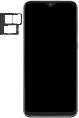 Samsung Galaxy A20e - Premiers pas - Insérer la carte SIM - Étape 3