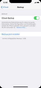Apple iPhone X - Software - Eine iCloud-Sicherheitskopie erstellen und an ein neues Gerät übertragen - 7 / 10