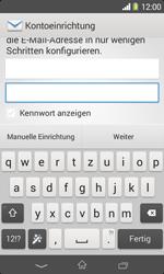 Sony Xperia E1 - E-Mail - Konto einrichten - Schritt 6