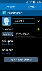 Samsung Galaxy Trend 2 Lite - Contact, Appels, SMS/MMS - Ajouter un contact - Étape 10