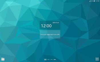 Samsung T805 Galaxy Tab S - Operazioni iniziali - Installazione di widget e applicazioni nella schermata iniziale - Fase 7