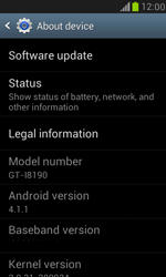 Samsung Galaxy S III Mini - Software - Installing software updates - Step 6