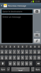 Samsung Galaxy Note 2 - Contact, Appels, SMS/MMS - Envoyer un SMS - Étape 5