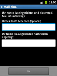 Samsung Galaxy Pocket - E-Mail - Manuelle Konfiguration - Schritt 16