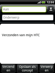 HTC A3333 Wildfire - E-mail - E-mails verzenden - Stap 5