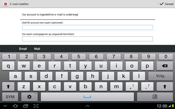 Samsung N8000 Galaxy Note 10-1 - E-mail - e-mail instellen: POP3 - Stap 16