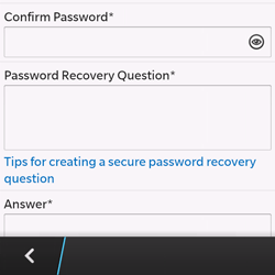 BlackBerry Q10 - Applications - Setting up the application store - Step 12