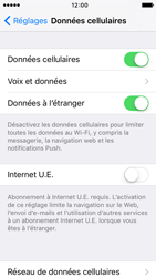 Apple iPhone 5c iOS 9 - Internet et roaming de données - Désactivation du roaming de données - Étape 4