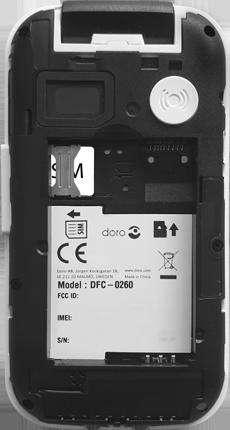 Doro 6620 - Premiers pas - Insérer la carte SIM - Étape 5