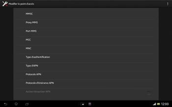 Sony Xperia Tablet Z LTE - Internet et roaming de données - Configuration manuelle - Étape 13