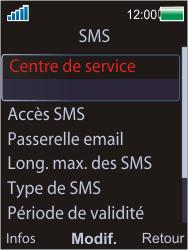 Sony W595 - SMS - Configuration manuelle - Étape 6