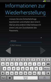 Samsung Galaxy Note 8-0 - Apps - Konto anlegen und einrichten - 1 / 1