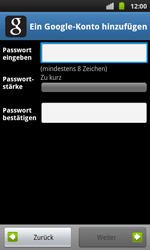 Samsung I9001 Galaxy S Plus - Apps - Konto anlegen und einrichten - Schritt 9