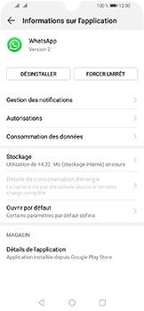 Huawei Y6 (2019) - Applications - Supprimer une application - Étape 6