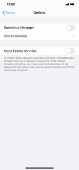 Apple iPhone XR - iOS 14 - Internet et roaming de données - Désactivation du roaming de données - Étape 6