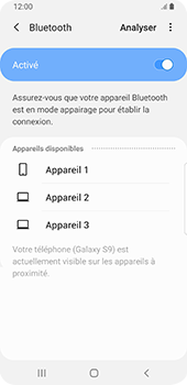 Samsung Galaxy S9 Android Pie - Bluetooth - connexion Bluetooth - Étape 9