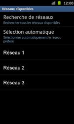 Samsung Galaxy S Advance - Réseau - Sélection manuelle du réseau - Étape 9