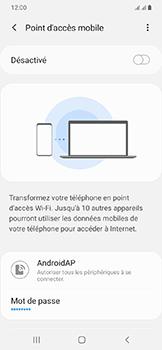 Samsung Galaxy A20e - Internet - comment configurer un point d'accès mobile - Étape 7