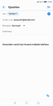 Huawei P Smart (Model FIG-LX1) - E-mail - Bericht met attachment versturen - Stap 9