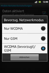 Sony Xperia Go - Netzwerk - Netzwerkeinstellungen ändern - Schritt 7