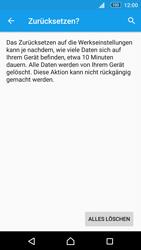 Sony E5603 Xperia M5 - Fehlerbehebung - Handy zurücksetzen - Schritt 9