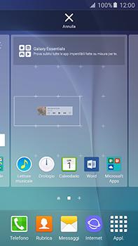 Samsung Galaxy A8 - Operazioni iniziali - Installazione di widget e applicazioni nella schermata iniziale - Fase 7