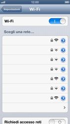 Apple iPhone 5 - WiFi - Configurazione WiFi - Fase 5