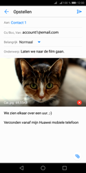 Huawei Y5 (2018) - E-mail - e-mail versturen - Stap 13