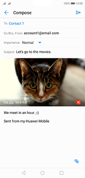 Huawei P20 - E-mail - Sending emails - Step 15