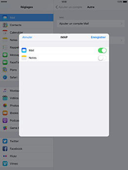Apple iPad mini 4 iOS 10 - E-mail - Configuration manuelle - Étape 16