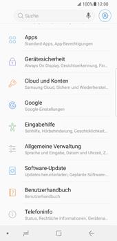 Samsung Galaxy S8 - Fehlerbehebung - Handy zurücksetzen - 6 / 12