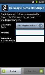 Samsung Galaxy S - Apps - Konto anlegen und einrichten - 11 / 21