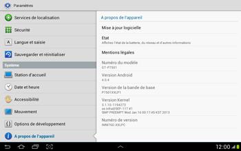 Samsung Galaxy Tab 2 10.1 - Logiciels - Installation de mises à jour - Étape 6