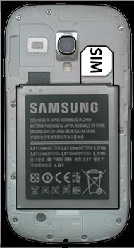 Samsung I8190 Galaxy S3 Mini - SIM-Karte - Einlegen - Schritt 5
