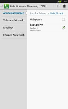 Samsung Galaxy Note 8-0 - Anrufe - Anrufe blockieren - 0 / 0