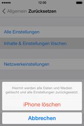 Apple iPhone 4S iOS 7 - Gerät - Zurücksetzen auf die Werkseinstellungen - Schritt 6