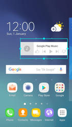 Samsung Galaxy S6 - Android Nougat - Getting started - Installing widgets and applications on your start screen - Step 7