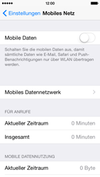 Apple iPhone 5s iOS 8 - Internet und Datenroaming - Prüfen, ob Datenkonnektivität aktiviert ist - Schritt 4