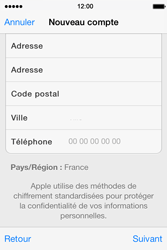Apple iPhone 4 S iOS 7 - Applications - Créer un compte - Étape 21