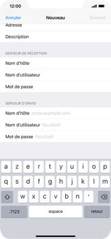 Apple iPhone XR - E-mail - Configuration manuelle - Étape 14