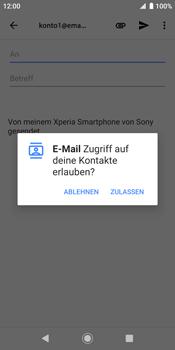 Sony Xperia XZ2 - Android Pie - E-Mail - E-Mail versenden - Schritt 5