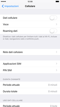 Apple iPhone 6s Plus - Internet e roaming dati - Come verificare se la connessione dati è abilitata - Fase 4